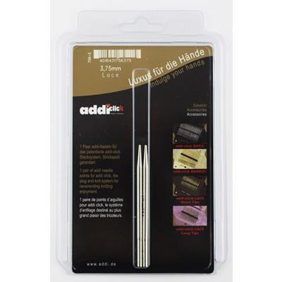 Аксессуары Addi Дополнительные спицы с удлиненным кончиком к addiClick LACE, латунь 3.75 мм