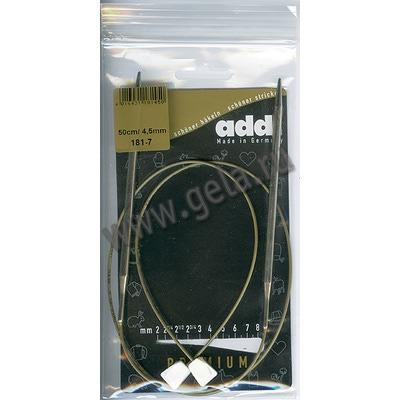 Спицы Addi Спицы с фиксаторами на лесках 4.5 мм / 50 см