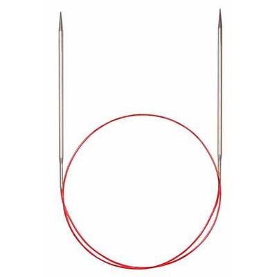 Спицы Addi Круговые с удлиненным кончиком металлические 4 мм / 80 см
