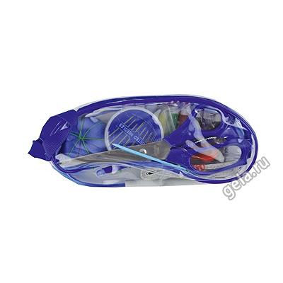 Аксессуары Hemline Набор швейный в прозрачном пластиковом кошельке на молнии