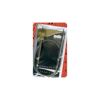 Спицы Addi Круговые носочные Sockenwunder супергладкие никелированная латунь 3 мм / 25 см (фото)
