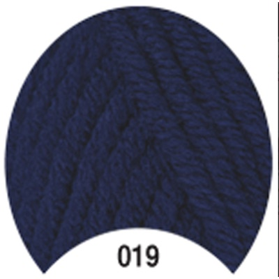 Пряжа Madame Tricote Paris Tango 019 цв. т.синий