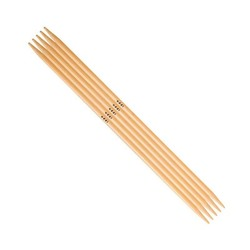 Спицы Addi Чулочные бамбуковые 6 мм / 15 см