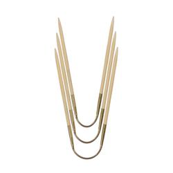 Спицы Addi чулочные гибкие CraSyTrio бамбуковые 3.75 мм / 24 см