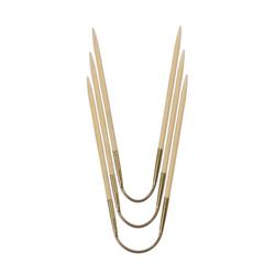 Спицы Addi чулочные гибкие CraSyTrio бамбуковые 3.5 мм / 24 см