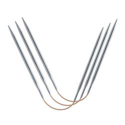 Спицы Addi Спицы чулочные гибкие addiCraSyTrio Long, супергладкие, №6.5, 26 см