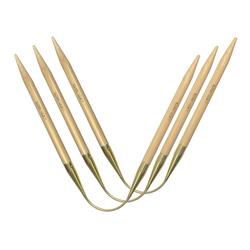 Спицы Addi Спицы чулочные гибкие addiCraSyTrio Bambus Long, №6,5, 30 см, 3 шт