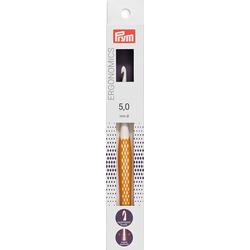 """Крючок Prym для вязания """"Ergonomics"""" 5мм/16см, high-tech полимер, белый/желтый"""