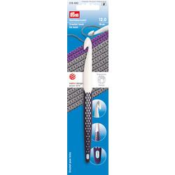 Крючок Prym для вязания Prym ergonomics 17см 12мм пластик белый/фиолетовый