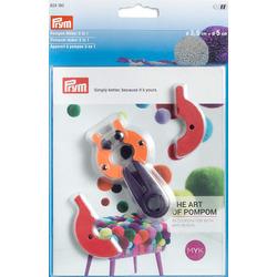 Аксессуары Prym Устройство для изготовления помпонов 2 в 1, размер S, пластик, многоцветный