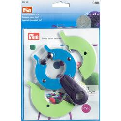 Аксессуары Prym Устройство для изготовления помпонов 2 в 1, размер L, пластик, многоцветный