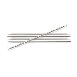 Спицы Knit Pro чулочные 'Nova Metal' 3 мм/20 см, никелированная латунь, серебристый, 5шт