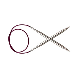Спицы Knit Pro круговые 'Nova Metal' 4 мм/40 см, никелированная латунь, серебристый