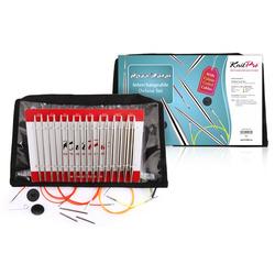 Набор Knit Pro Набор 'Deluxe Set ' съемных спиц Nova Metal никелированная латунь, серебристый, 8 видов спиц в наборе