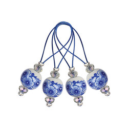 Аксессуары Knit Pro Маркер для вязания 'Blooming Blue' /Синее цветение/ пластик, 12шт в упаковке