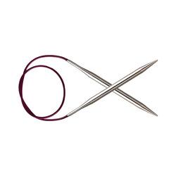 Спицы Knit Pro круговые 'Nova Metal' 3,5 мм/80 см, никелированная латунь, серебристый