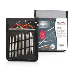 Набор Knit Pro Набор 'Deluxe Set' съемных спиц Nova cubics (4.00/ 4.50/ 5.00/ 5.50/ 6.00/ 7.00/ 8.00 мм)никелированная латунь, 7 видов спиц