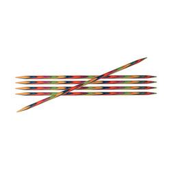 Спицы Knit Pro чулочные 'Symfonie' 2 мм/15 см, дерево, многоцветный, 6шт