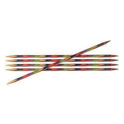 Спицы Knit Pro чулочные 'Symfonie' 6 мм/20 см, дерево, многоцветный, 5шт
