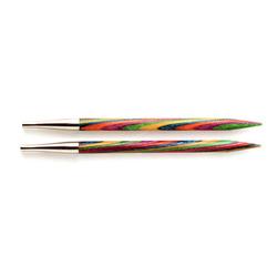 Спицы Knit Pro съемные 'Symfonie' 6 мм для длины тросика 20 см, дерево, многоцветный, 2шт