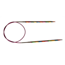 Спицы Knit Pro круговые Symfonie 5 мм/80 см, дерево, многоцветный