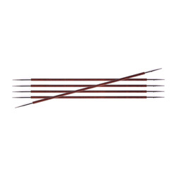 Спицы Knit Pro чулочные Royale 2,5 мм /20 см, ламинированная береза, бордовая роза, 5шт