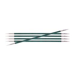 Спицы Knit Pro чулочные Royale 3,5 мм /20 см, ламинированная береза, аквамариновый, 5шт