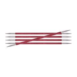 Спицы Knit Pro чулочные Royale 4 мм /20 см, ламинированная береза, розовая фуксия, 5шт