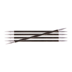 Спицы Knit Pro чулочные Royale 4,5 мм /20 см, ламинированная береза, серый оникс, 5шт