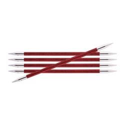 Спицы Knit Pro чулочные Royale 5 мм /20 см, ламинированная береза, вишневый, 5шт