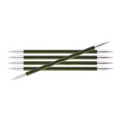 Спицы Knit Pro чулочные Royale 5,5 мм /20 см, ламинированная береза, зеленый, 5шт