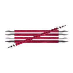 Спицы Knit Pro чулочные Royale 6 мм /20 см, ламинированная береза, розовый леденец, 5шт