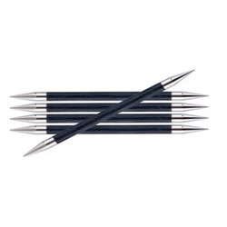 Спицы Knit Pro чулочные Royale 8 мм /20 см, ламинированная береза, королевский синий, 5шт