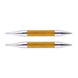 Спицы Knit Pro съемные Royale 12 мм для длины тросика 28-126 см, ламинированная береза, желтый топаз, 2шт