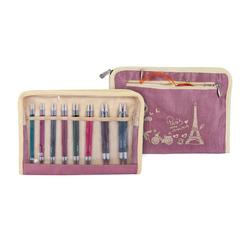 Набор Knit Pro Набор 'Deluxe' съемных спиц 'Royale' ламинированная береза, многоцветный, 8 видов спиц в наборе