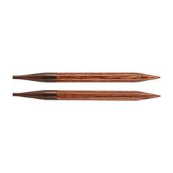 Спицы Knit Pro съемные Ginger 12 мм для длины тросика 28-126 см, дерево, коричневый, 2шт