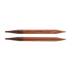 Спицы Knit Pro съемные Ginger 15 мм для длины тросика 28-126 см, дерево, коричневый, 2шт