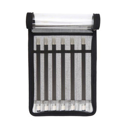 Набор Knit Pro Набор чулочных спиц 20 см Karbonz (2,5 мм, 3 мм, 3,5 мм, 4 мм, 4,5 мм, 5 мм), карбон, черный, 6 видов спиц