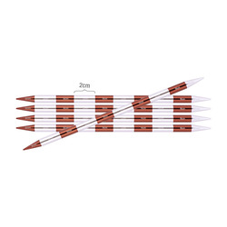 Спицы Knit Pro чулочные SmartStix 3 мм/20 см, алюминий, серебристый/охра, 5шт