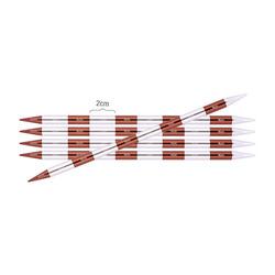 Спицы Knit Pro чулочные SmartStix 8 мм/20 см, алюминий, серебристый/охра, 5шт