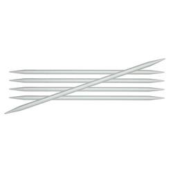 Спицы Knit Pro чулочные Basix Aluminum 4,5 мм/20 см, алюминий, серебристый, 5шт