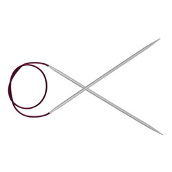 Спицы Knit Pro круговые Basix Aluminum 3,5 мм/120 см, алюминий, серебристый
