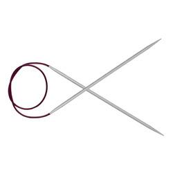 Спицы Knit Pro круговые Basix Aluminum 5 мм/120 см, алюминий, серебристый