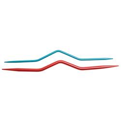Спицы Knit Pro вспомогательные для кос 6 мм, 8 мм, алюминий, серый, 2шт