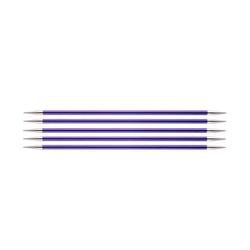 Спицы Knit Pro чулочные Zing 3,75 мм/15 см, алюминий, аметистовый, 5шт