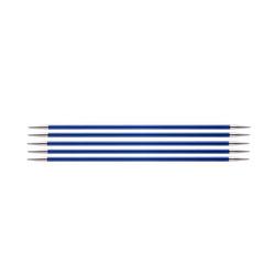 Спицы Knit Pro чулочные Zing 4 мм/15 см, алюминий, сапфир, 5 шт