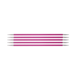 Спицы Knit Pro чулочные Zing 5 мм/15 см, алюминий, рубиновый, 5шт