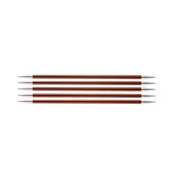 Спицы Knit Pro чулочные Zing 5,5 мм/15 см, алюминий, охра, 5шт