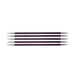 Спицы Knit Pro чулочные Zing 6 мм/15 см, алюминий, фиолетовый бархат, 5шт