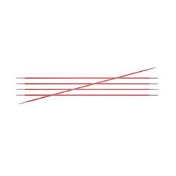 Спицы Knit Pro чулочные Zing 6,5 мм/15 см, алюминий, коралловый, 5шт